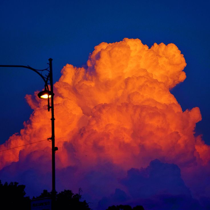 Orange cloud