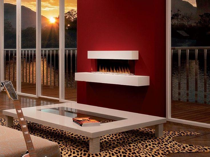 chimenea elctrica de pared con ventana panormica panorama suite british fires