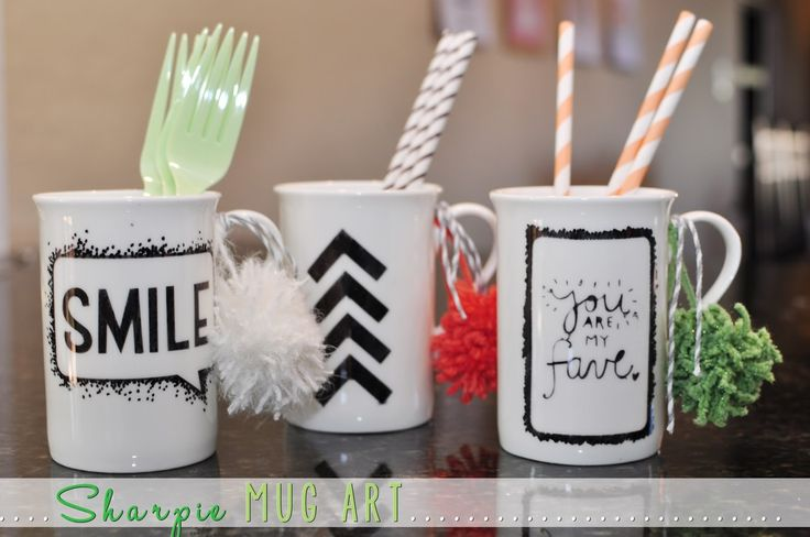 Delineate Your Dwelling: Sharpie Mug Art