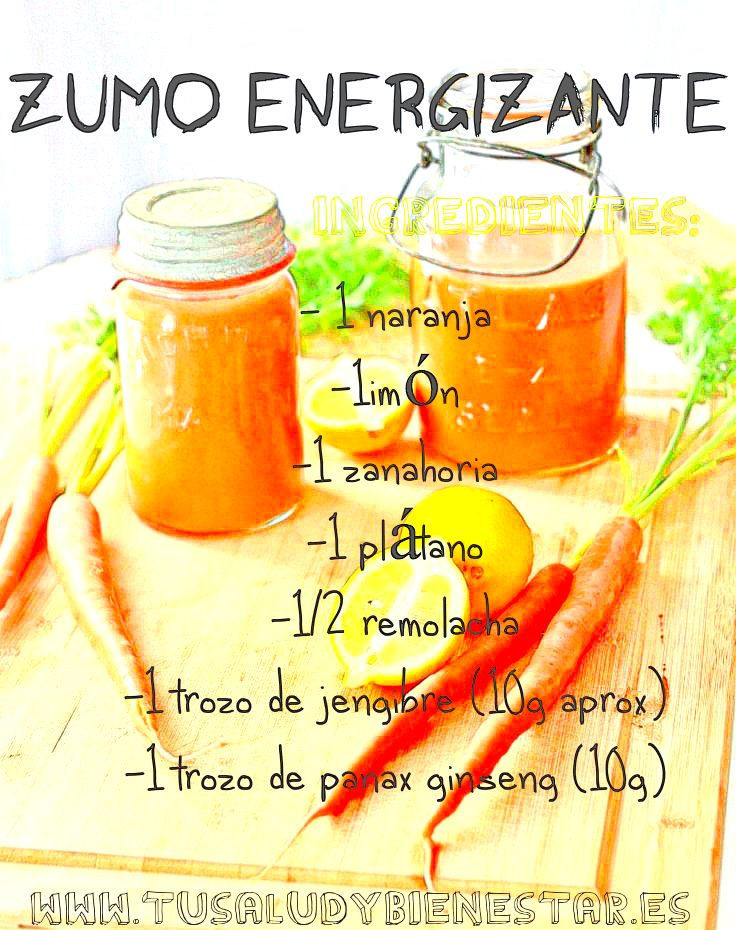 receta zumo energizante