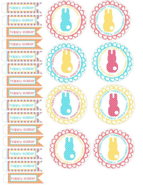 Food Art Party: Spring and Easter Cupcake Wrappers and Toppers