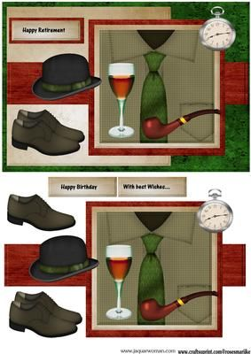 Male card Men s Clothes on Craftsuprint designed by Marijke Kok - Great male card for any occasion. - Now available for download!