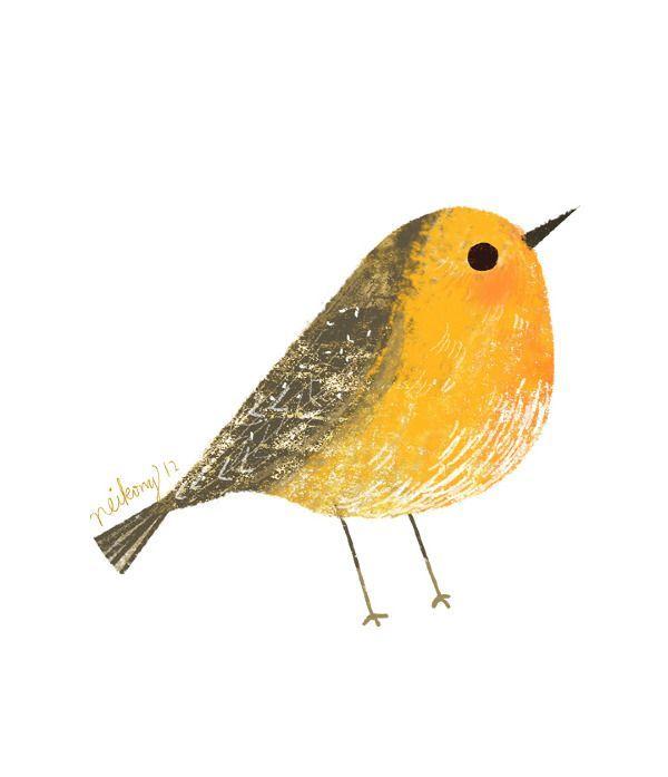 Bird Illustration - neiko art Robin | Dieren, vooral ...