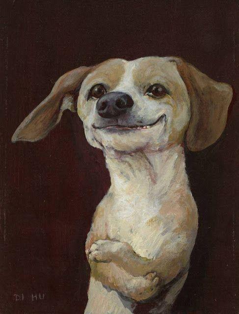 Rudi Hurzlmeier | Собачье искусство, Картины собак ...