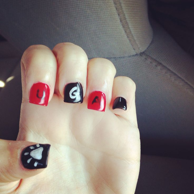 23 best Georgia Bulldogs Nails, Hair and Makeup images on Pinterest ...