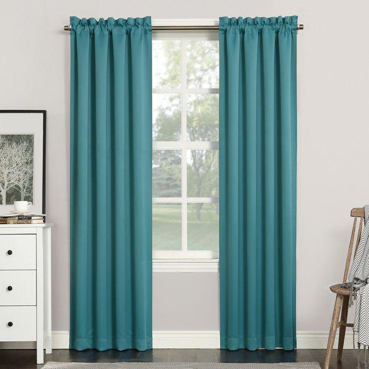 "Sun Zero Kenneth Blackout Rod Pocket Curtain Panel Marine 40""x63"""