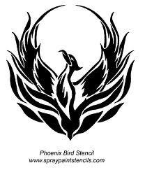 phoenix bird - stencil