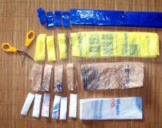 How to Make Plarn a yarn made out of plastic grocery bags. Plarn is a great way to recycle plastic bags.