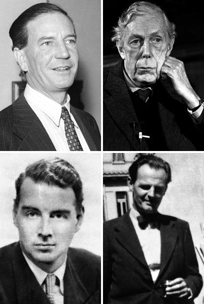 Clockwise from top left: Kim Philby, Anthony Blunt, Donald Maclean and Guy Burgess. The Cambridge Five were at the heart of one of the most infamous spying scandals in British history. They included fourth man and double agent Anthony Blunt, who helped recruit Guy Burgess and Donald Maclean, who defected to the USSR in 1951. Kim Philby turned to the Soviet Union in 1963. John Cairncross has been named as the fifth man. Picture: PA