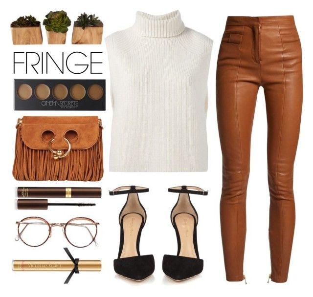 """Shimmy Shimmy: Fringe"" by arwitaa ❤ liked on Polyvore featuring Balmain, Gianvito Rossi, Étoile Isabel Marant, Cinema Secrets, J.W. Anderson, INC International Concepts, Tom Ford and Victoria's Secret"