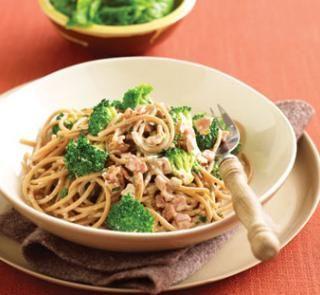 Low-fat creamy spaghetti | Healthy Food Guide