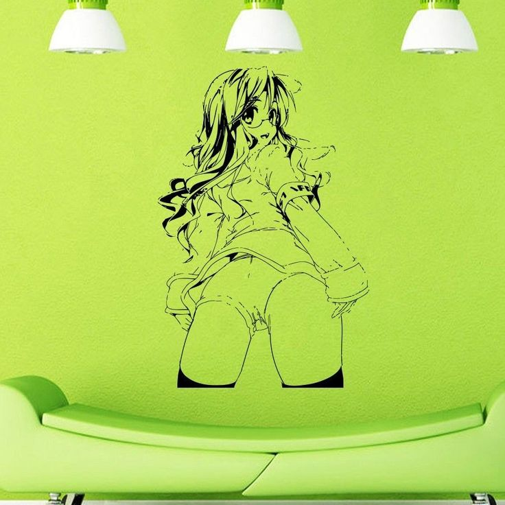 Vinyl Wall Decals ANIME MANGA SEXY GIRL Decal Removable Vinyl Art Home Decor Wall stickers X274
