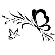 9 best papillon images on pinterest butterflies arabesque and butterfly drawing - Dessin papillon simple ...