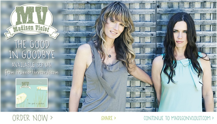 Madison Violet (formerly MadViolet)  most amazing duo...  you will love! http://madisonviolet.com