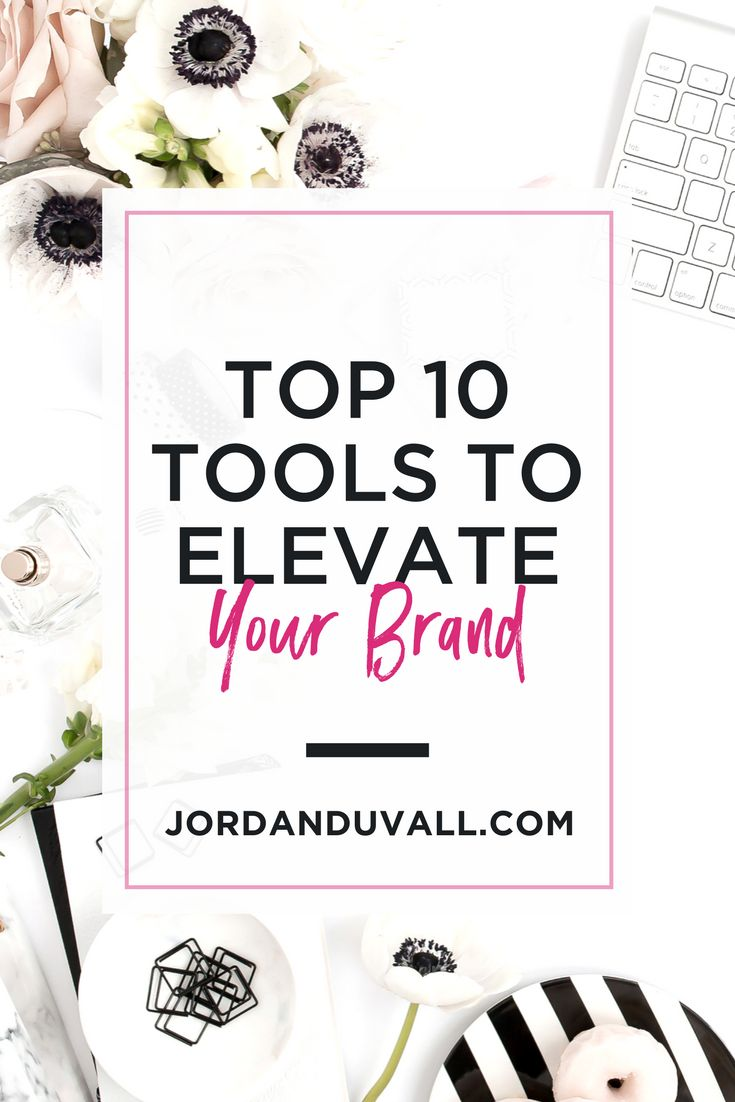Find the top 10 tools you need to uplevel your brand with Jordan Duvall. Find out how to get organized, make gorgeous graphics, improve your mindset, and more. All for free!