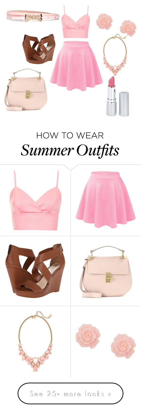 """""""Cute summer outfit"""" by darb97 on Polyvore featuring Jessica Simpson, Topshop, Kate Spade, Brooks Brothers, Chloé and HoneyBee Gardens"""