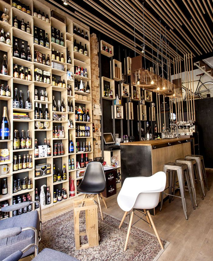 Cat mouse beer bar concept store 2 pinteres for Wine shop decoration