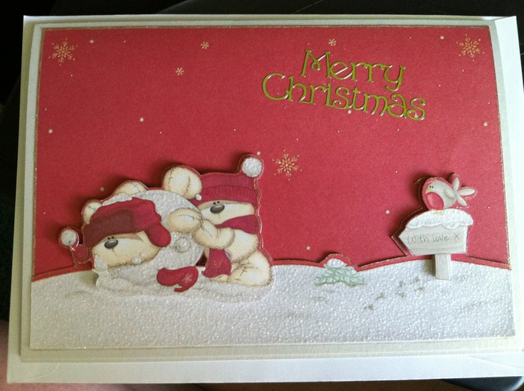 My first attempt at a decoupage card...