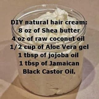 Girls with natural hair can try a homemade hair cream to fight frizz and humidity. Apply before creating twists to make your style summer-proof.