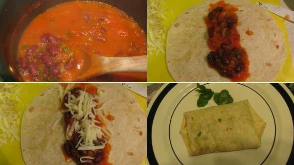 Meksika Fasulyeli Burrito  -  Pınar Ergen #yemekmutfak.com Burrito Meksika mutfağının en tanınan yemeklerindendir. Dürüme benzeyen pratik, lezzetli ve doyurucu bir yemektir. İçine genellikle meksika fasulyesi, biber, et veya tavuk konulur. Tarifimiz Meksika fasulyesi ile yapılan vejetaryen versiyonu.