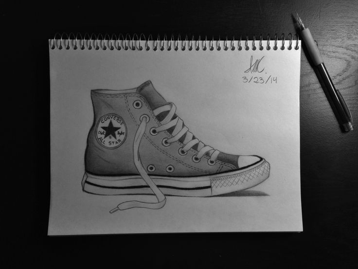 How To Draw Converse Shoes From The Side