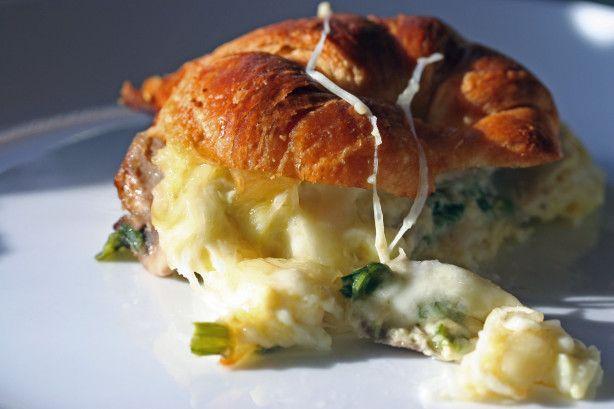 Croissant Breakfast Casserole