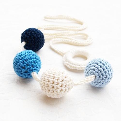 "Babahami Horgooka ""Kék"" creative mummy lace, teething necklace"