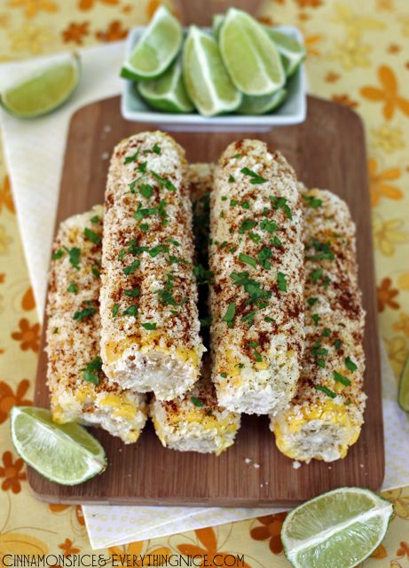 Mexican Street Corn - a friend told me about buying this from vendor carts in Cali and I didn't believe her. She did say it was amazing.