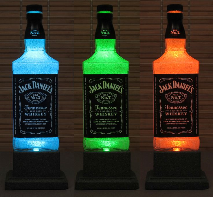 Jack Daniels Whiskey Color Changing LED Remote Controlled Eco Friendly Rgb LED Bottle Lamp/Bar Light on Luulla