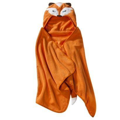 Foxy! Cute hooded towels make bath time fun