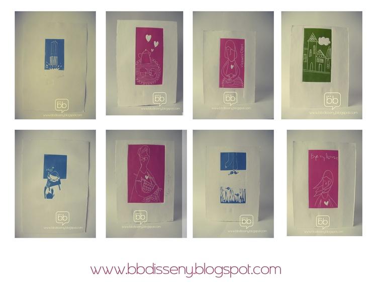 algunos grabados  linograbados  bbdisseny