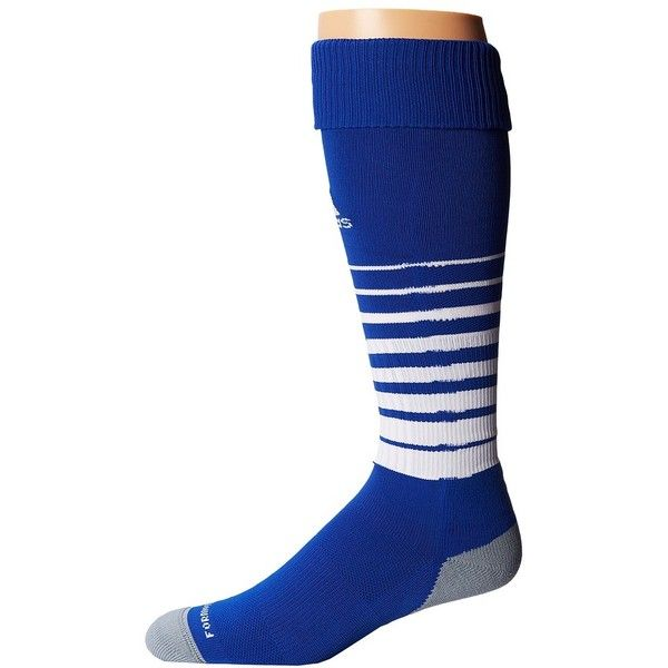 adidas Team Speed Soccer Sock Knee High Socks ($16) ❤ liked on Polyvore featuring intimates, hosiery, socks, knee socks, knee hi socks, logo socks, adidas and knee-high socks