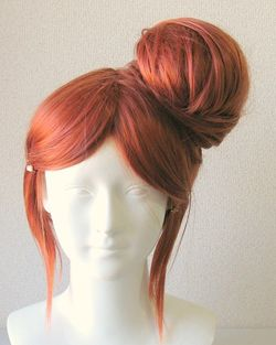 Cosplay wig bun tutorial from clip in ponytail