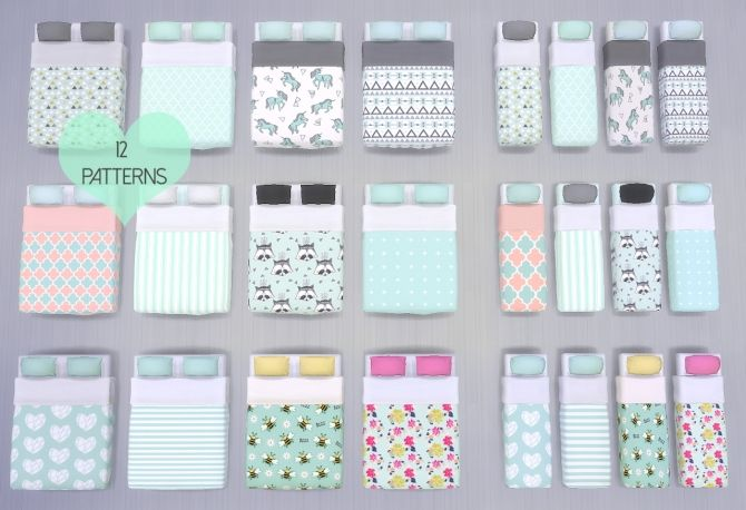 The Mint Bedroom Collection at DreamCatcherSims4 • Sims 4 Updates