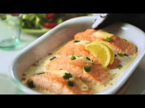 Laks i ovnen med citronsovs - nem opskrift - se den her
