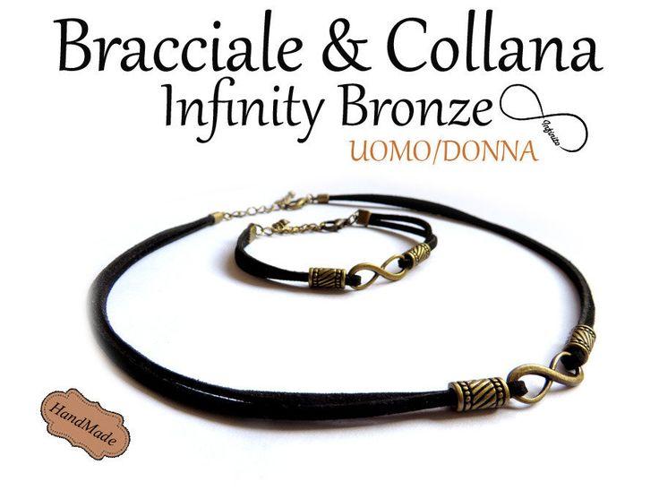 Bracciale + Collana simbolo Infinity Infinito bronzo UNISEX!, by «:::Mosquitonero Shop:::», 19,90€ su misshobby.com