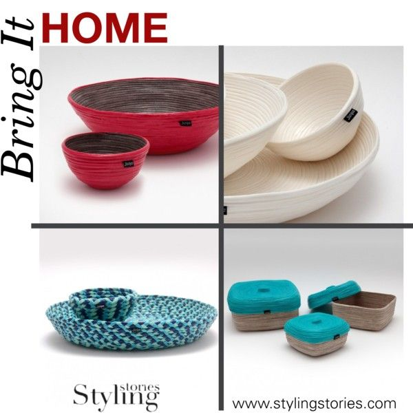 Bring It Home Eco-Design - Original Bowls and handcrafted plates by stylingstories   featuring interior, interiors, interior design, home, home decor and interior decorating #eco-design #red #Blue #homedesign #homeset #homedecor #bowl #MustHaves