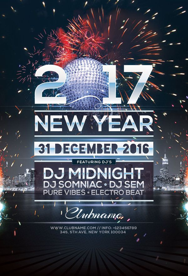 40 Best New Year Flyer Design Images On Pinterest | Flyers, Flyer