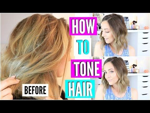 The CHEAPEST Way To Tone Brassy Hair At Home - YouTube