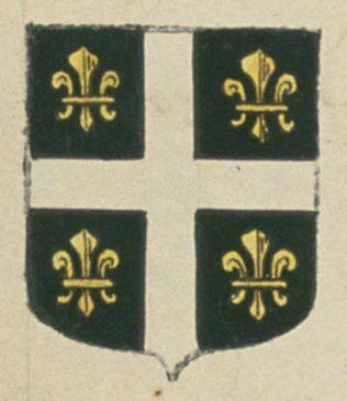 Jean de SAINT-MARTIN, bourgeois de la ville d'Arles. Porte : de sable, à une croix d'argent, cantonnée de quatre fleurs de lis d'or | N° 71