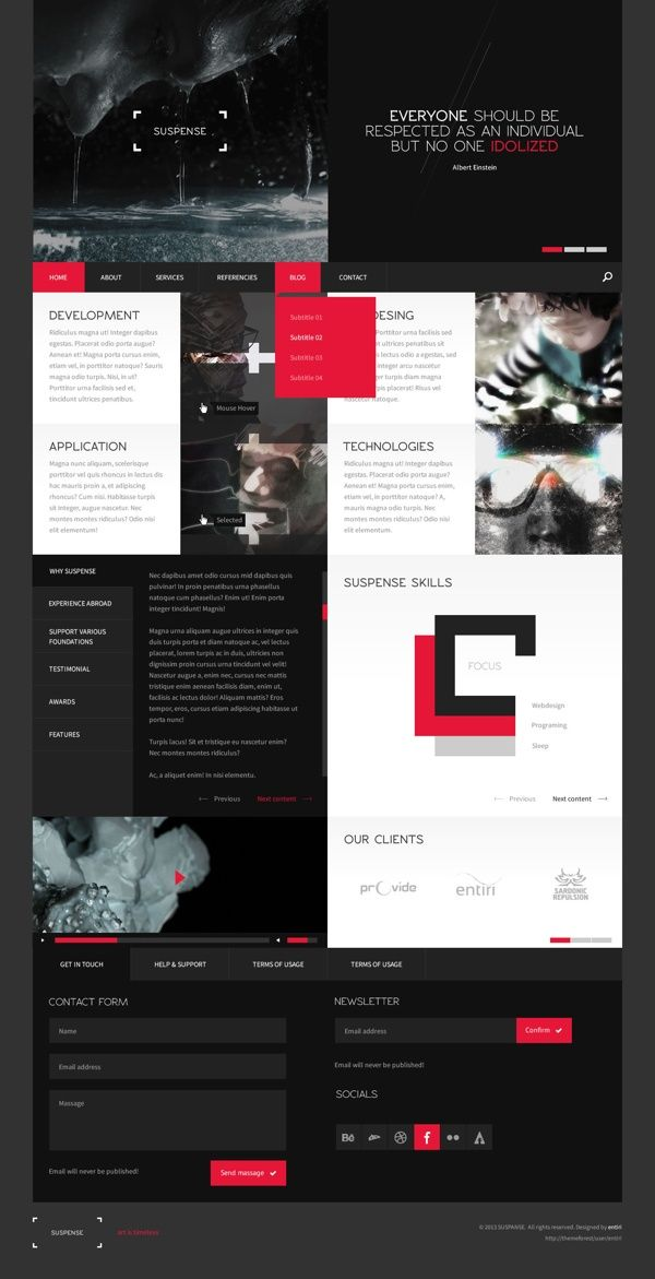 Web design inspiration | #764