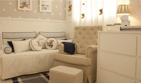 Que tal um quarto de bebê bege e azul com uma decoração excepcional? Esse quarto de bebê tema cachorrinho foi feito pela Puro Amor e ficou super elegante, confira!