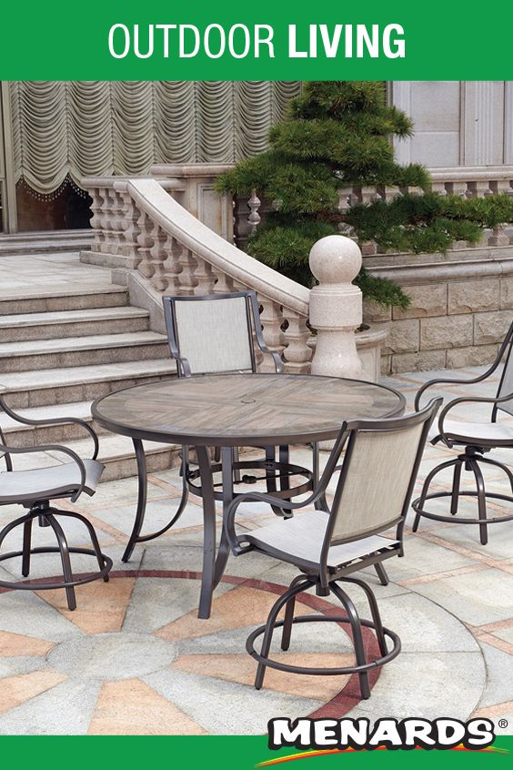 Backyard Creations Bazemore Collection 5 Piece High Dining Patio Set In 2020 Patio Furniture Collection Patio Set Patio