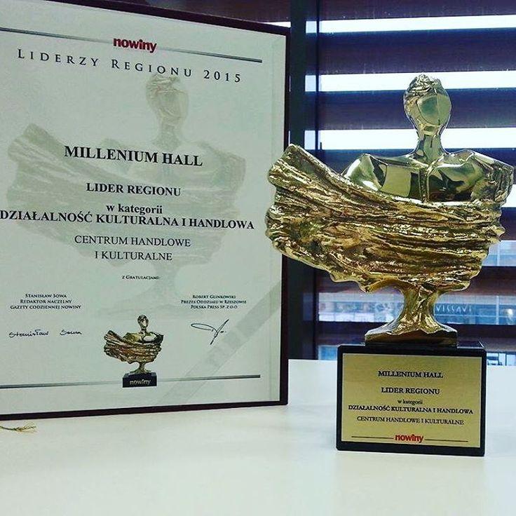 """#MilleniumHall liderem regionu w kategorii """"Działalność kulturalna i handlowa"""" w plebiscycie #LiderzyRegionu2015 #Nowiny ❗️❤️ Dziękujemy za uznanie! #TwojeMiejscewRzeszowie #rzeszów #nagrody #award #awards"""