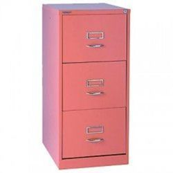Product 106412, Description: GLO by Bisley BS3C Filing Cabinet 3-Drawer H1016mm Pink Ref BS3C Pink