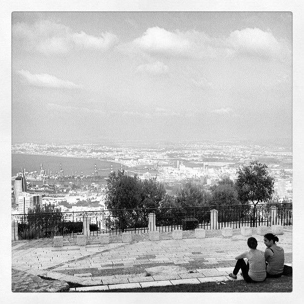Looking out over #Haifa from the Dan Carmel