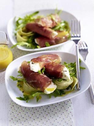 Das Rezept für Bündnerfleischröllchen mit Mozzarella und weitere kostenlose Rezepte auf LECKER.de
