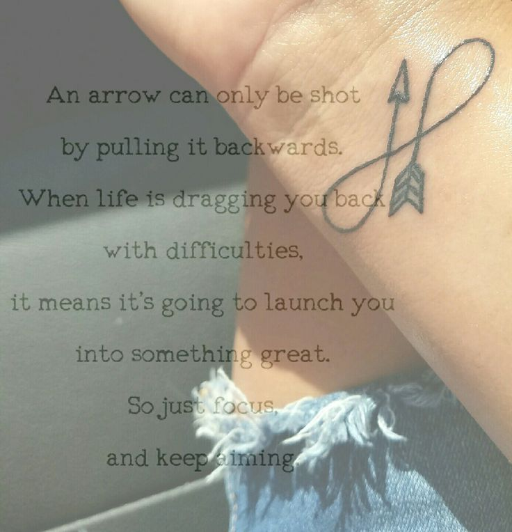 Infinty arrow tattoo meaning