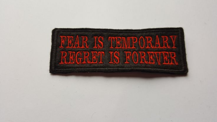 Fear is Temporary funny Motorcycle patch biker club team embroidered patch funny humor by AllsortsofBolton on Etsy