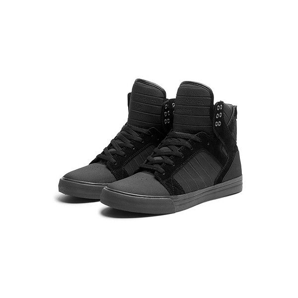 SUPRA Footwear ($125) ❤ liked on Polyvore featuring shoes, sneakers, men, supra, lightweight shoes, black white sneakers, white sneakers, white shoes and black trainers